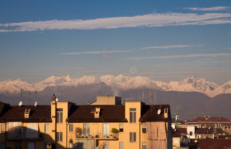 Mening van de Alpen royalty-vrije stock foto's