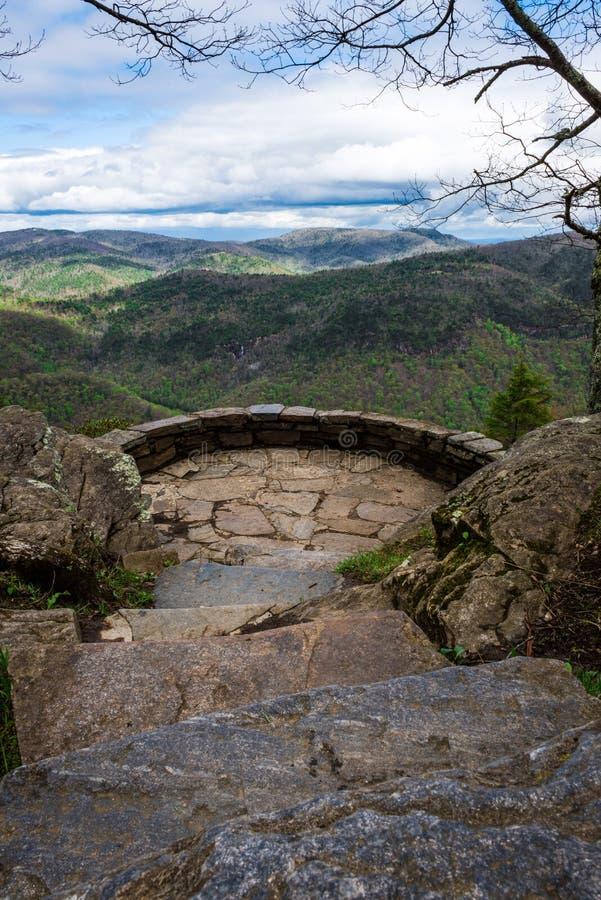 Mening van de bergen royalty-vrije stock foto's