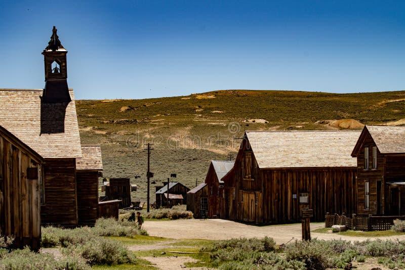 Mening van de Beroemde Spookstad van Lichaam, Californië royalty-vrije stock foto