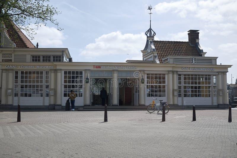 Mening van de Bezoekercentrum van Amsterdam stock foto