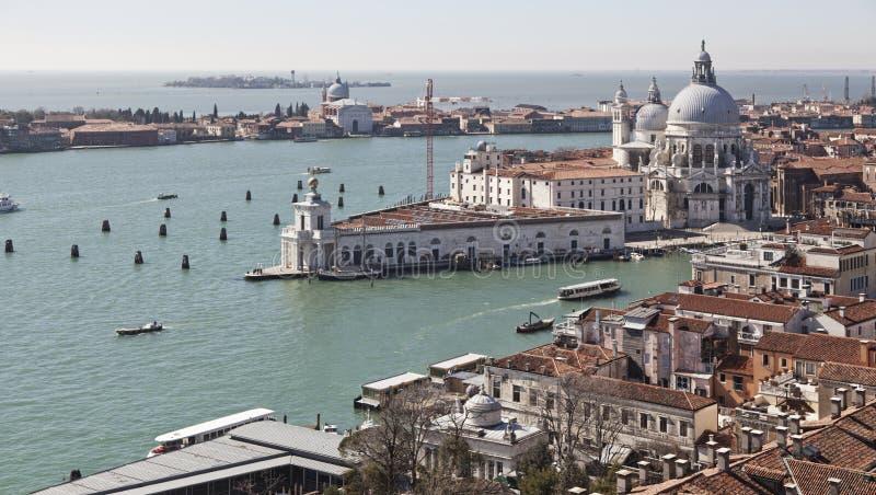Mening van de Campanile toren op het vierkant van San Marco stock afbeelding