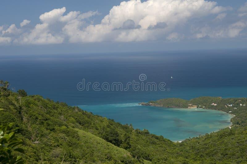 Mening van de Caraïben van Tortola stock foto