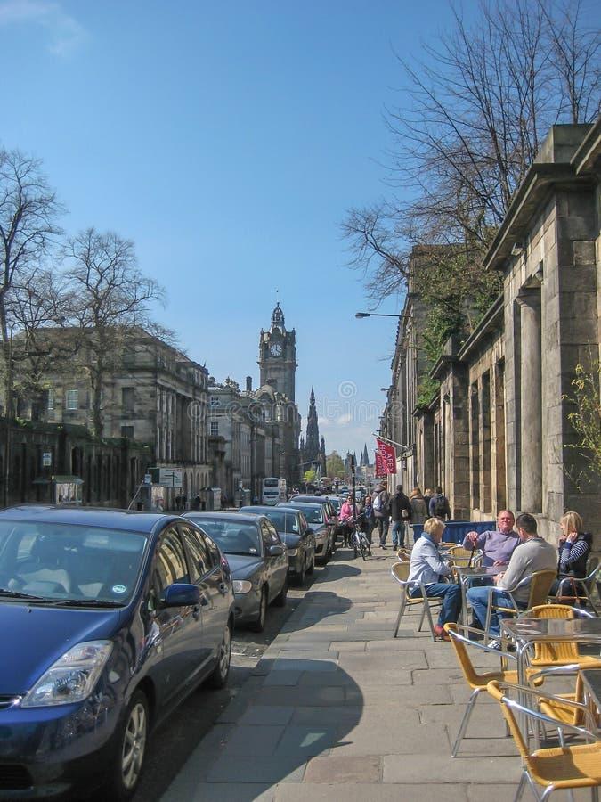 Mening van de centrale stad, Edinburgh royalty-vrije stock foto's