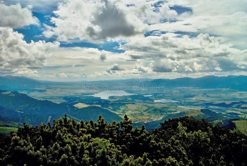 Mening van de Choc-bergen stock foto's