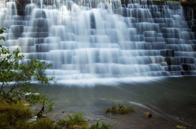 Mening van de Dam van het Ottermeer, Blauw Ridge Parkway stock afbeeldingen