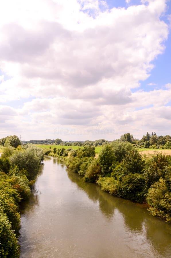 Mening van de Hamm-Rivier stock foto