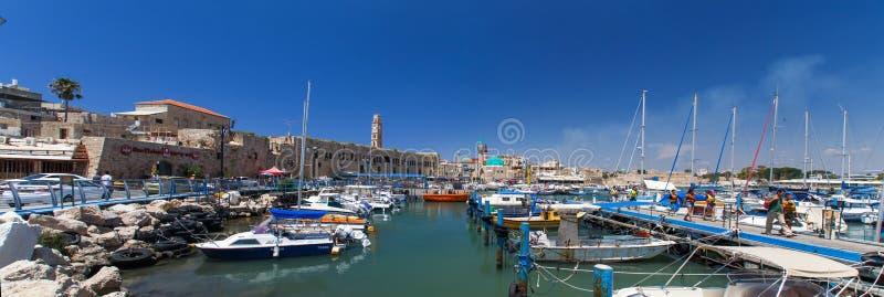 Mening van de haven van Oude Akko Akko Israël royalty-vrije stock afbeeldingen