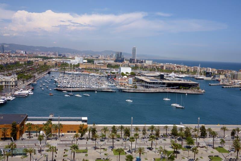 Mening van de haven van Barcelona royalty-vrije stock afbeeldingen