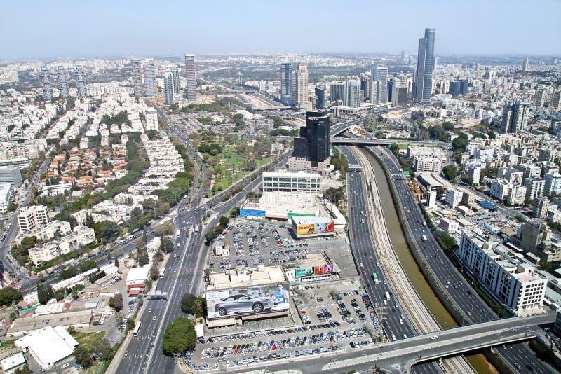Mening van de hoogten van Tel Aviv en Ramat Gan royalty-vrije stock fotografie