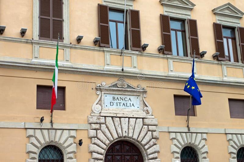Mening van de kam van de Bank van Italië, Perugia stock fotografie