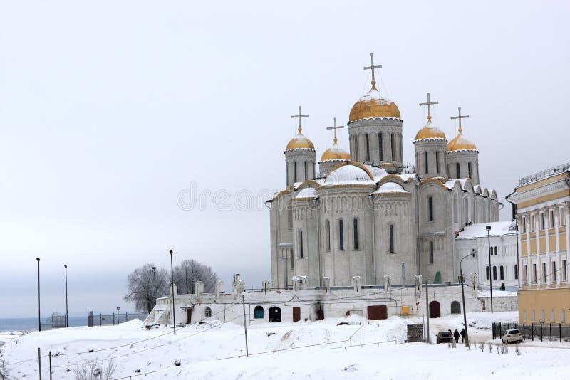 Mening van de Kathedraal Dormition stock foto