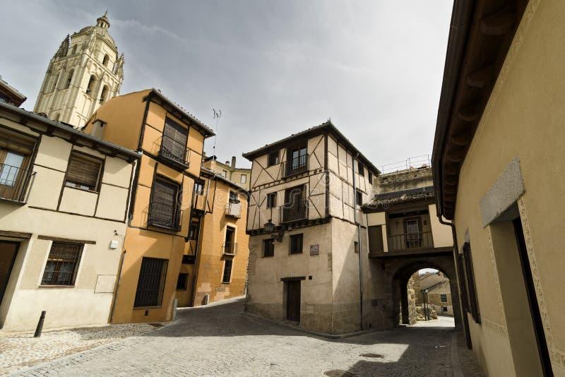 Oude Stad. Segovia stock foto's