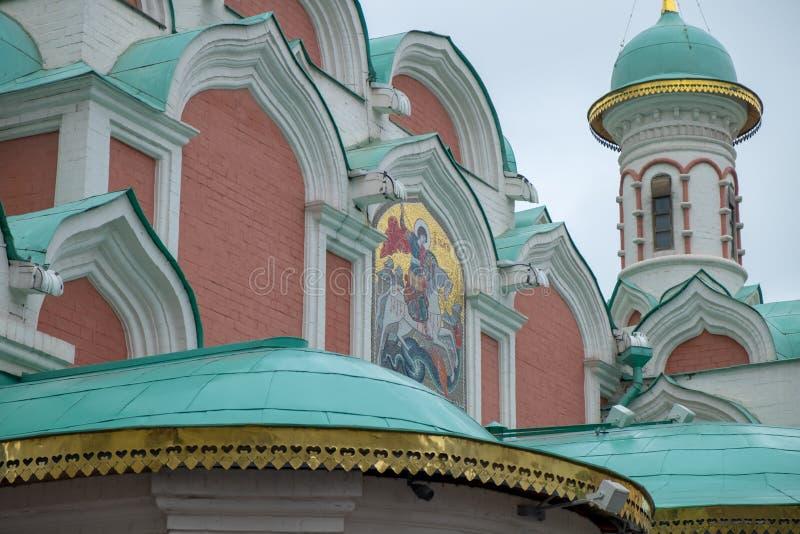 Mening van de kerken in kathedraalvierkant binnen het Kremlin royalty-vrije stock afbeeldingen