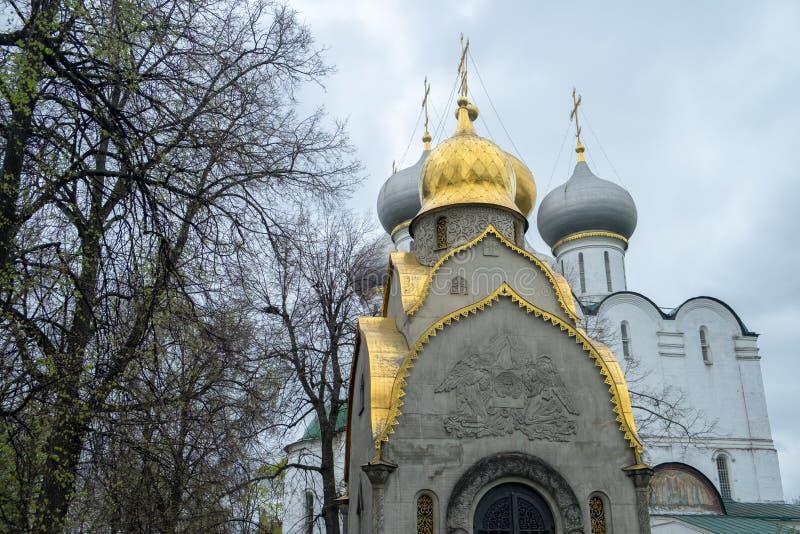 Mening van de kerken in kathedraalvierkant binnen het Kremlin stock afbeeldingen