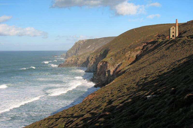 Mening van de kust van Cornwall royalty-vrije stock afbeeldingen