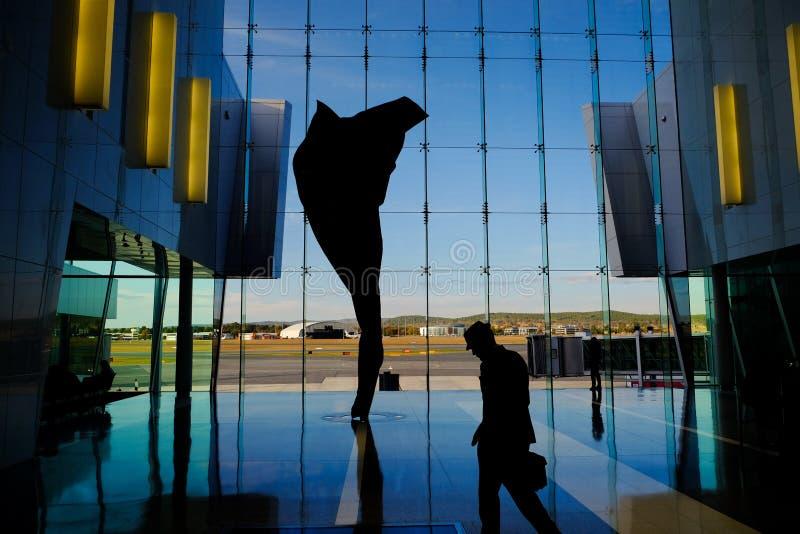 Mening van de Luchthaven van Canberra, Australië stock fotografie
