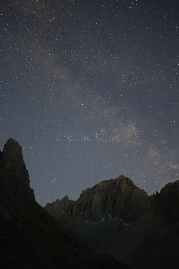 Mening van de Melkweg stock foto