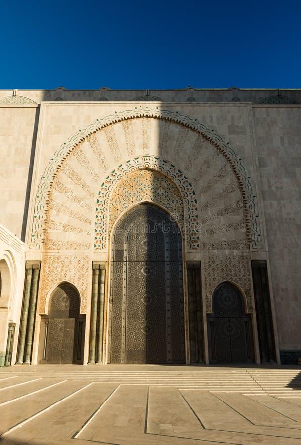 Mening van de moskee Hassan 2 royalty-vrije stock afbeelding