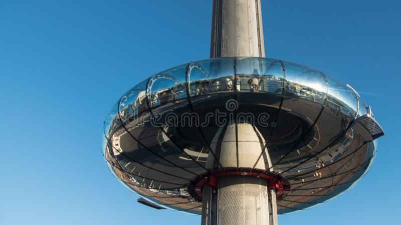 Mening van de observatietoren op de strandboulevard van Brighton en Gehesen royalty-vrije stock afbeeldingen