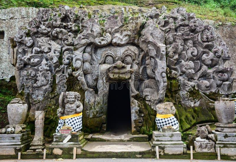 Mening van de Olifantstempel in Bali, Indonesië stock fotografie