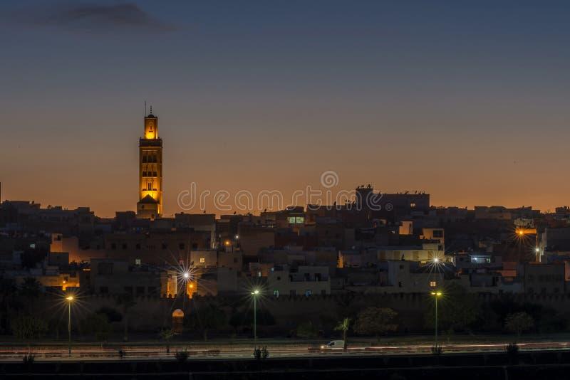 Mening van de oude stad in Meknes, Marokko stock foto's