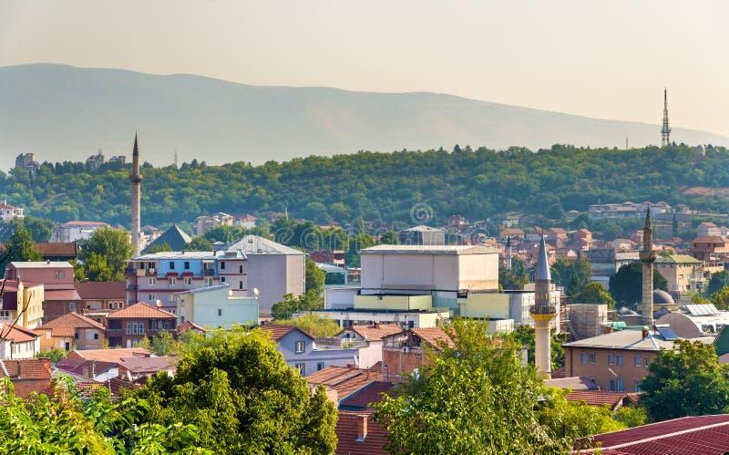 Mening van de oude stad van Skopje royalty-vrije stock fotografie