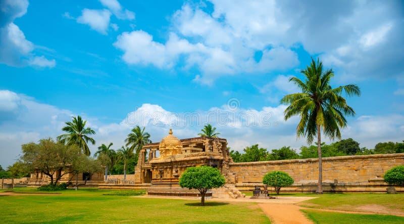 Mening van de oude Tempel van Gangaikonda Cholapuram royalty-vrije stock fotografie