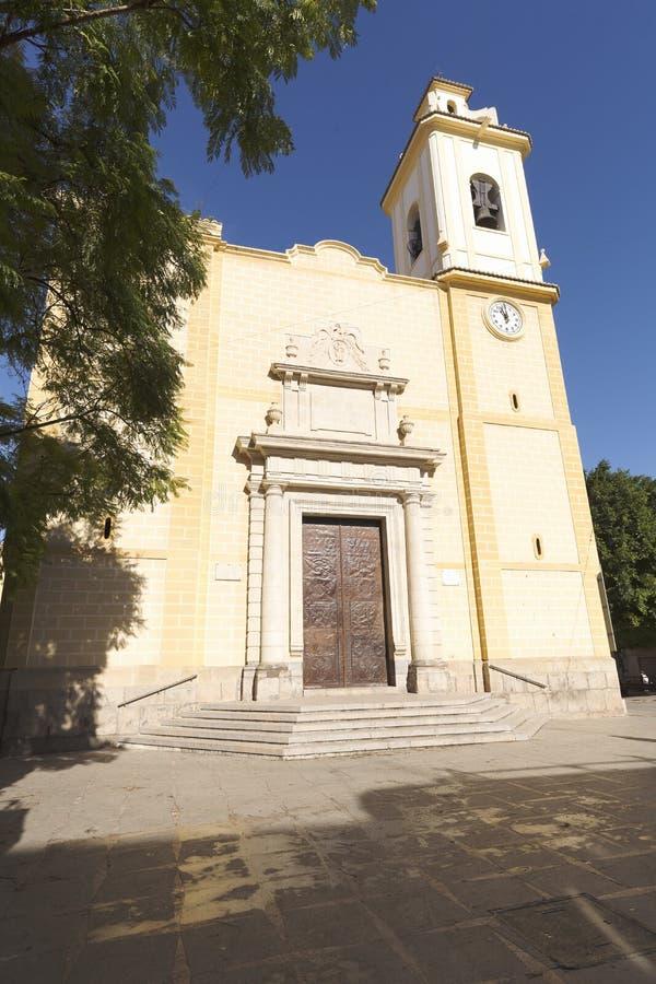 Mening van de Parochie San Vicente Ferrer royalty-vrije stock foto's