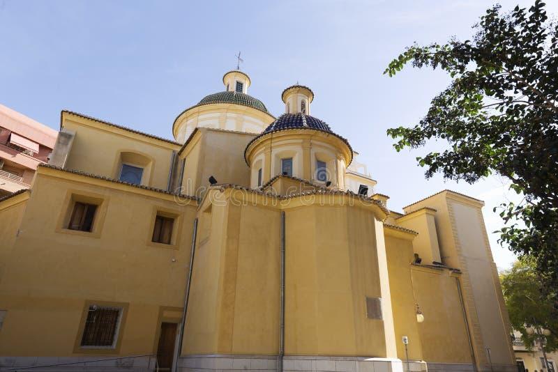 Mening van de Parochie San Vicente Ferrer royalty-vrije stock afbeeldingen