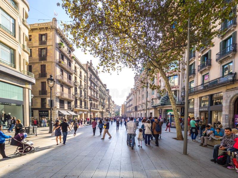 Mening van de Portal del Angel straat stock afbeelding