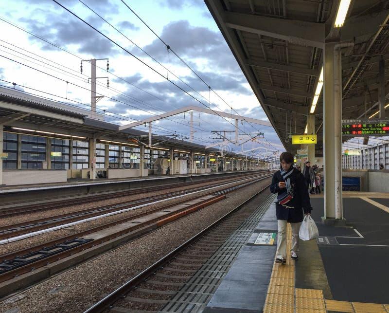 Mening van de post in Himeji, Japan stock foto's