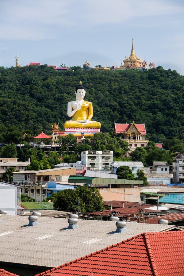 Mening van de Provincie van Nakhon Sawan, Kerewong, Thailand stock fotografie