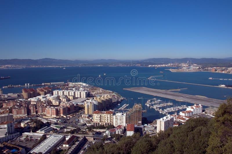Mening van de Rots, Gibraltar stock afbeelding