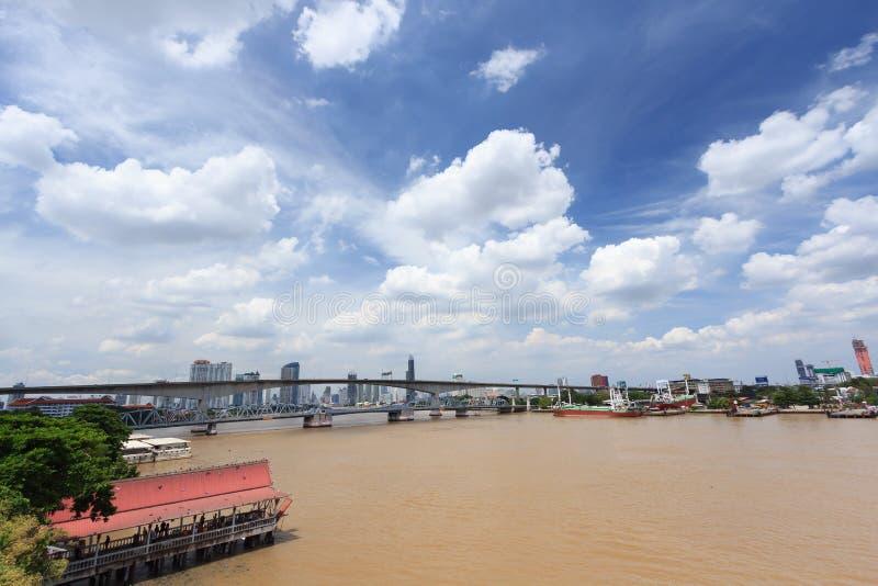 Mening van de stad van Bangkok royalty-vrije stock afbeelding