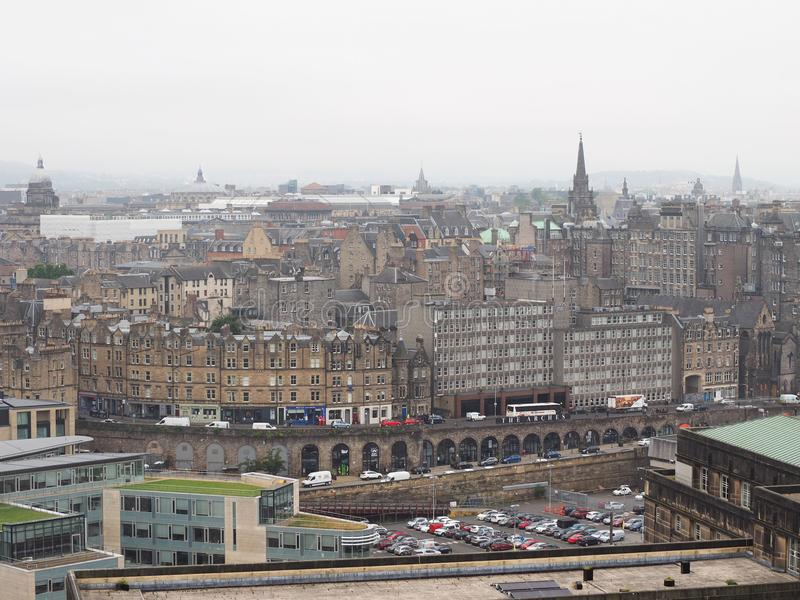 Mening van de stad van Edinburgh stock foto