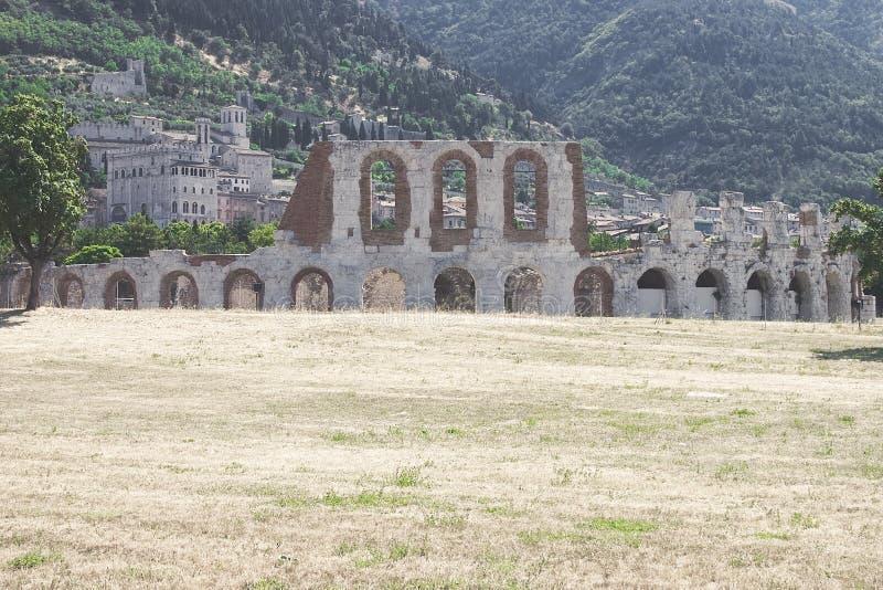 Mening van de stad van Gubbio, Italië royalty-vrije stock foto