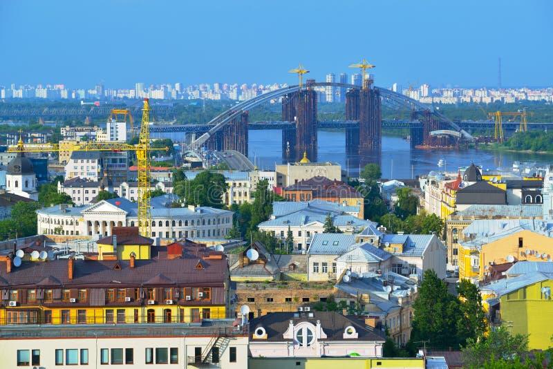 Mening van de stad Kiev royalty-vrije stock foto's