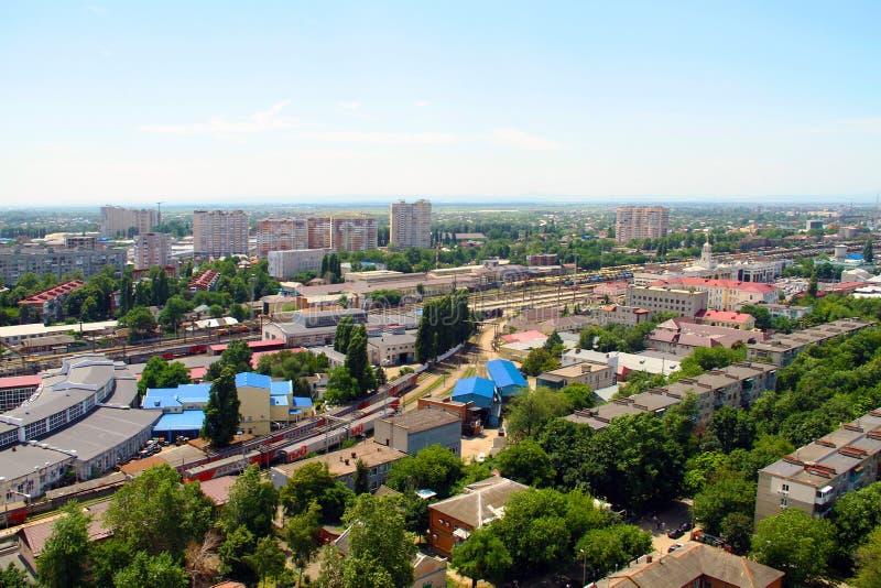 Mening van de stad van Krasnodar royalty-vrije stock fotografie