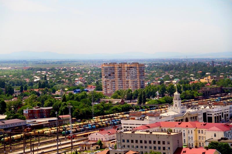 Mening van de stad van Krasnodar stock fotografie