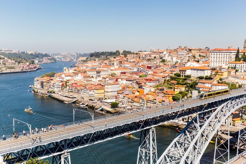 Mening van de stad van Porto, Portugal stock foto's