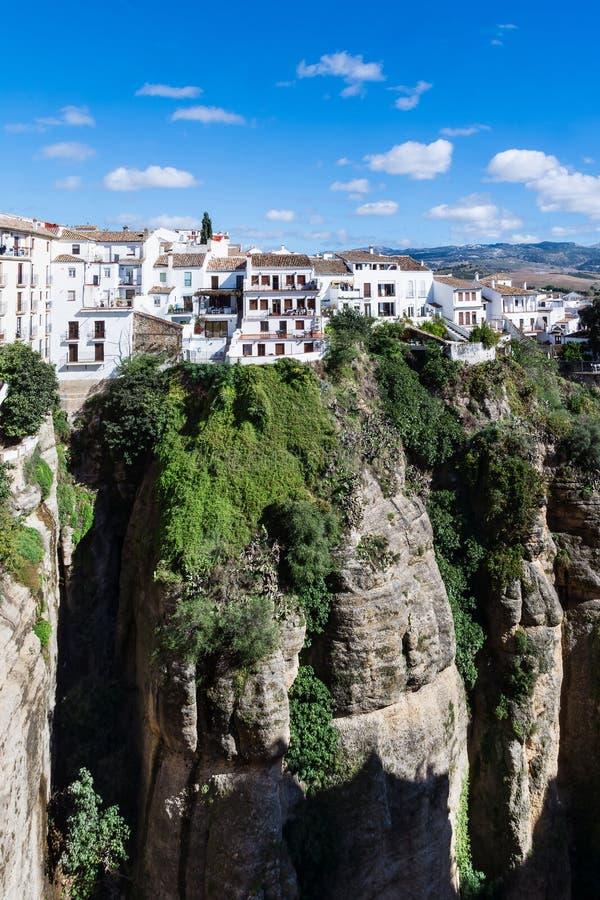 Mening van de stad van Ronda royalty-vrije stock afbeelding