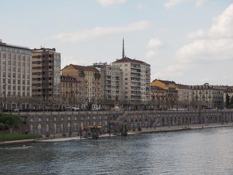 Mening van de stad van Turijn stock foto's