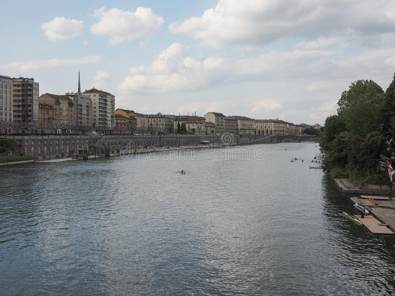 Mening van de stad van Turijn royalty-vrije stock fotografie