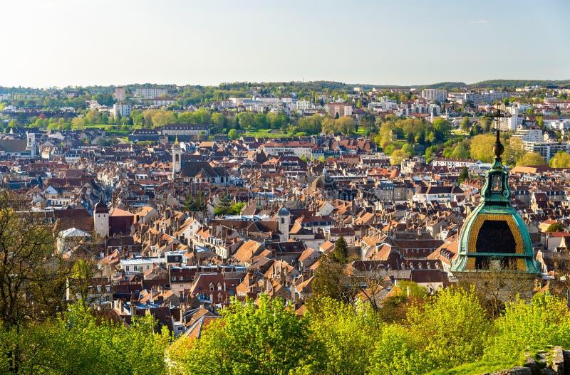 Mening van de stad van Besançon - Frankrijk stock foto's