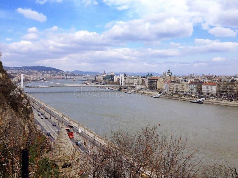 Mening van de Stad van Boedapest stock foto