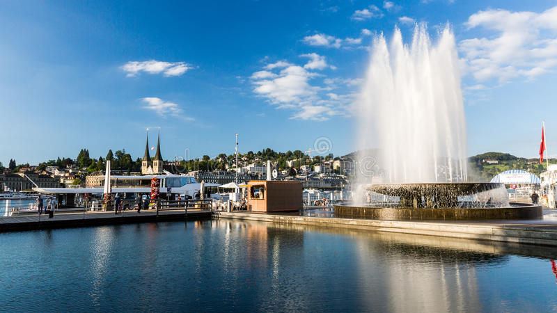 Mening van de stad van Luzerne in Zwitserland royalty-vrije stock foto's