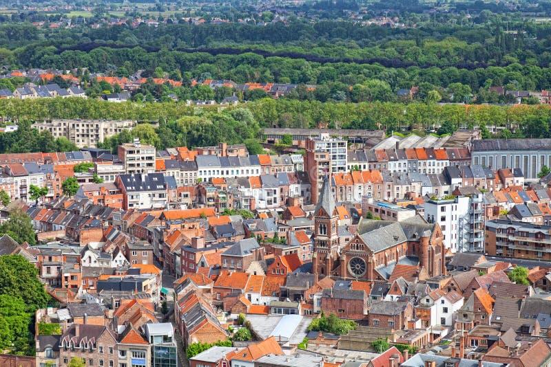 Mening van de stad van Malines (Mechelen royalty-vrije stock afbeelding