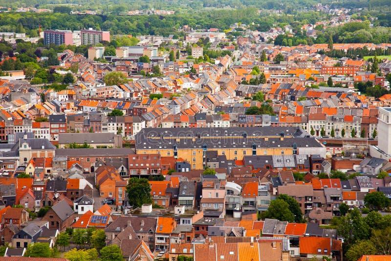 Mening van de stad van Malines (Mechelen) royalty-vrije stock afbeeldingen