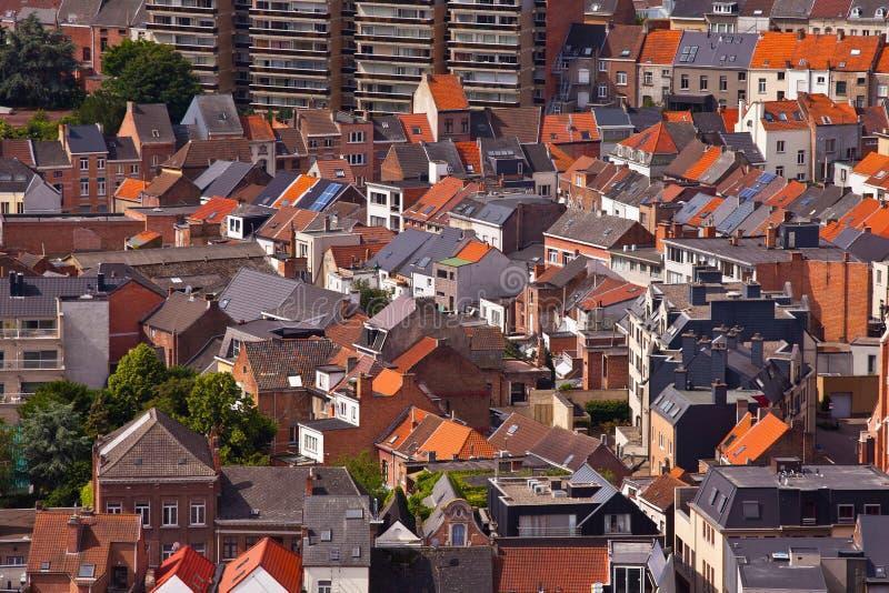 Mening van de stad van Malines (Mechelen) royalty-vrije stock afbeelding