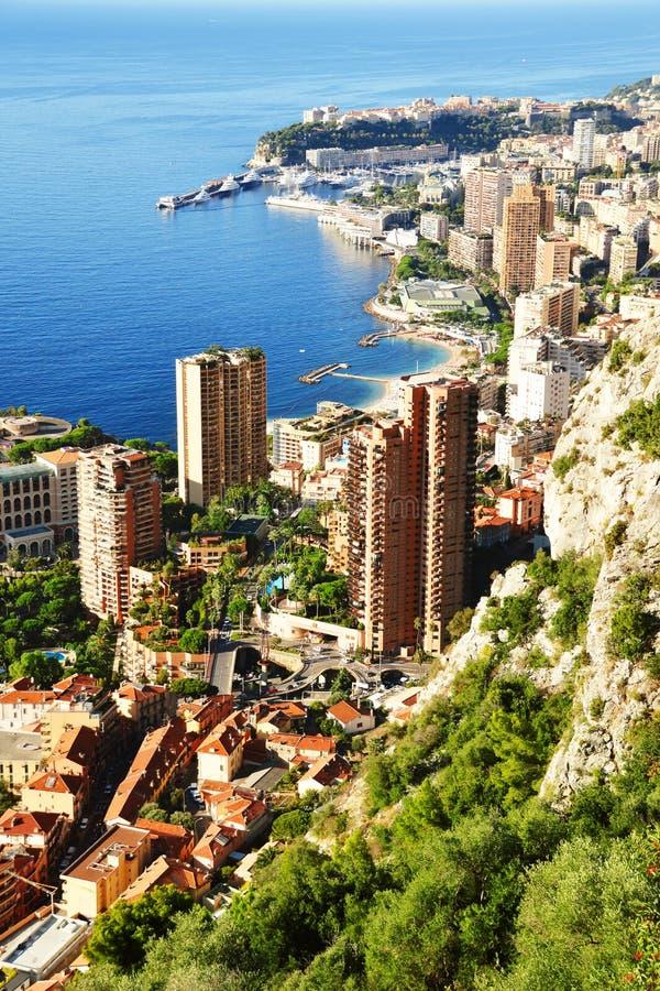 Mening van de stad van Monaco Franse riviera royalty-vrije stock afbeelding